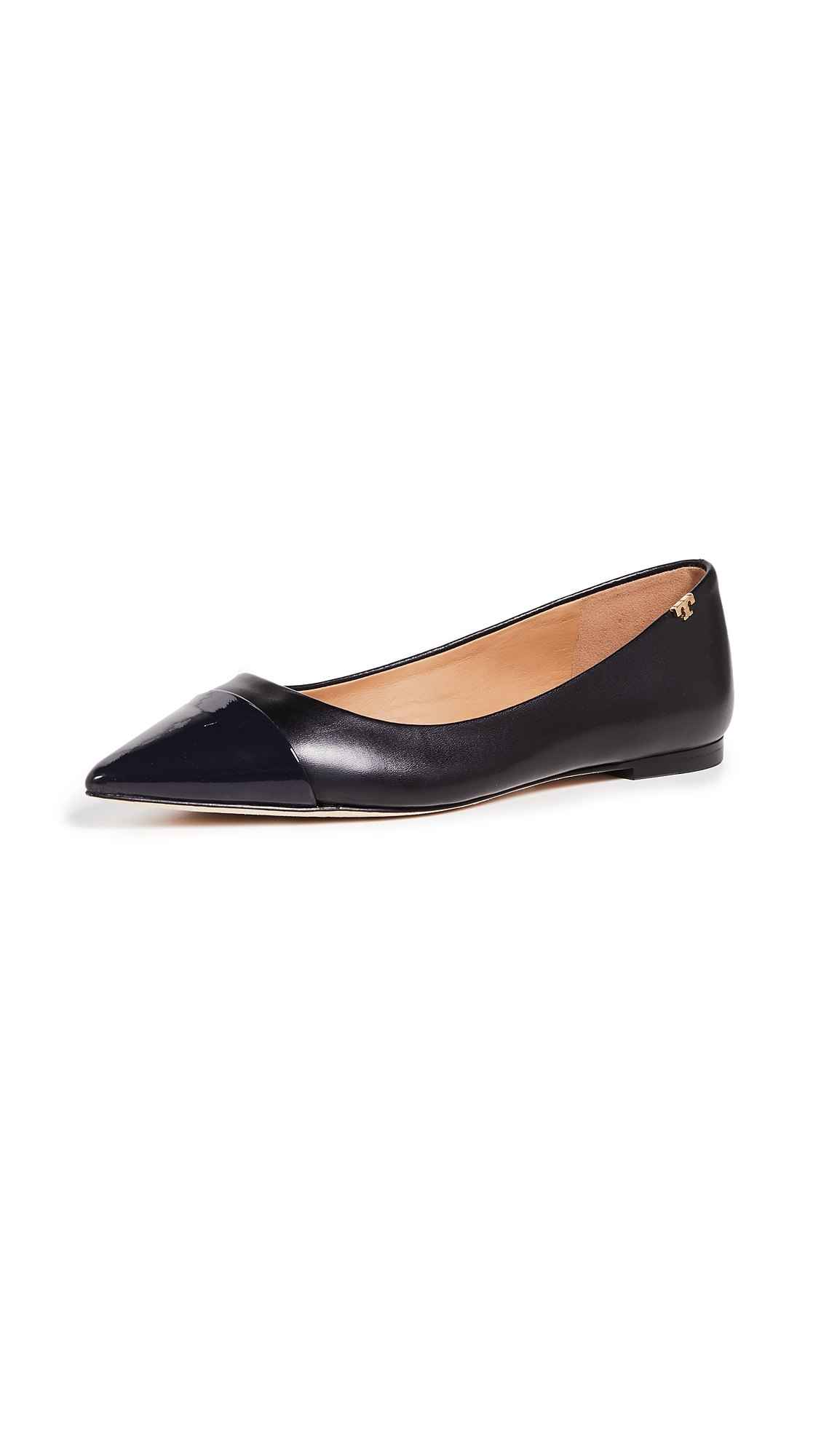 Tory Burch Penelope Cap Toe Flats - Perfect Black/Perfect Navy