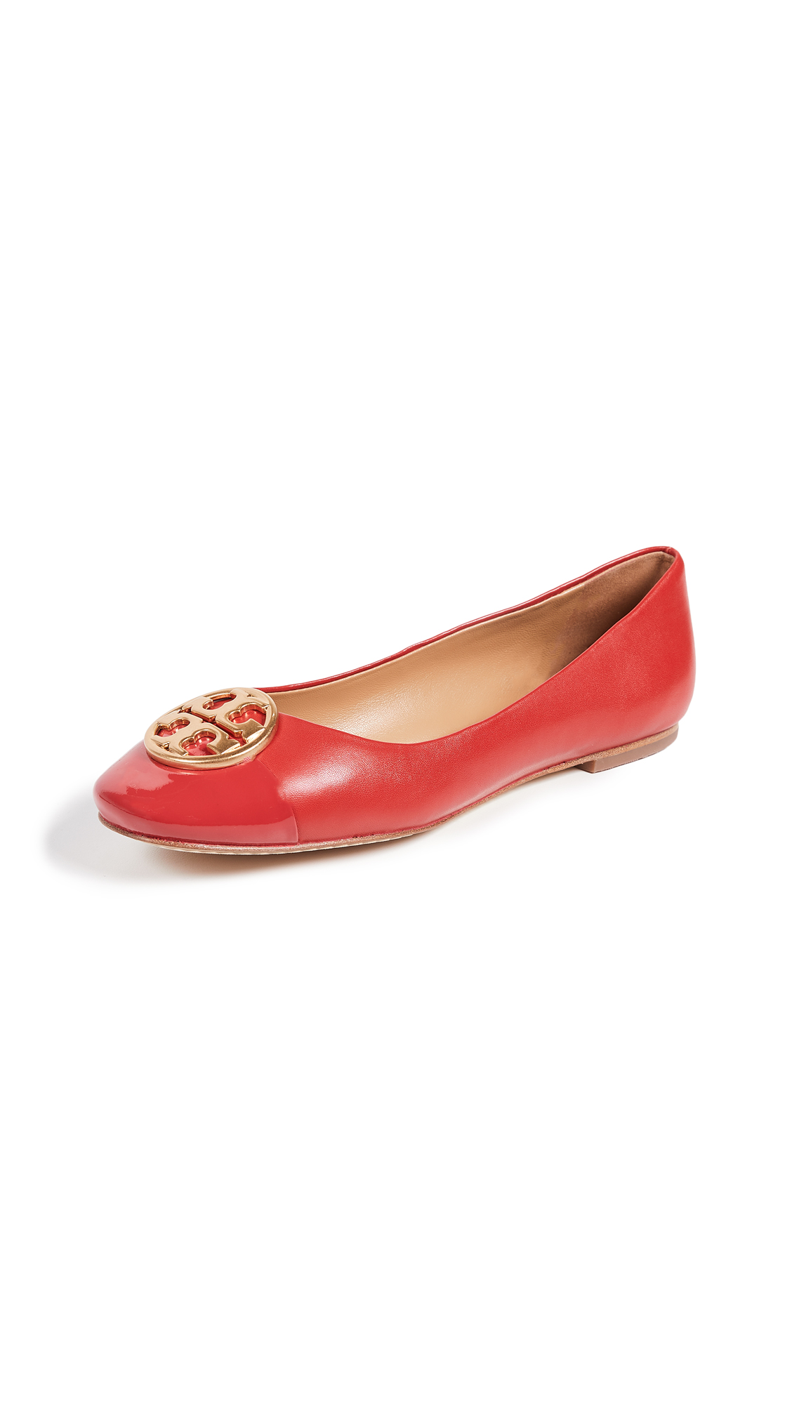 Tory Burch Chelsea Ballet Flats - Brilliant Red/Brilliant Red