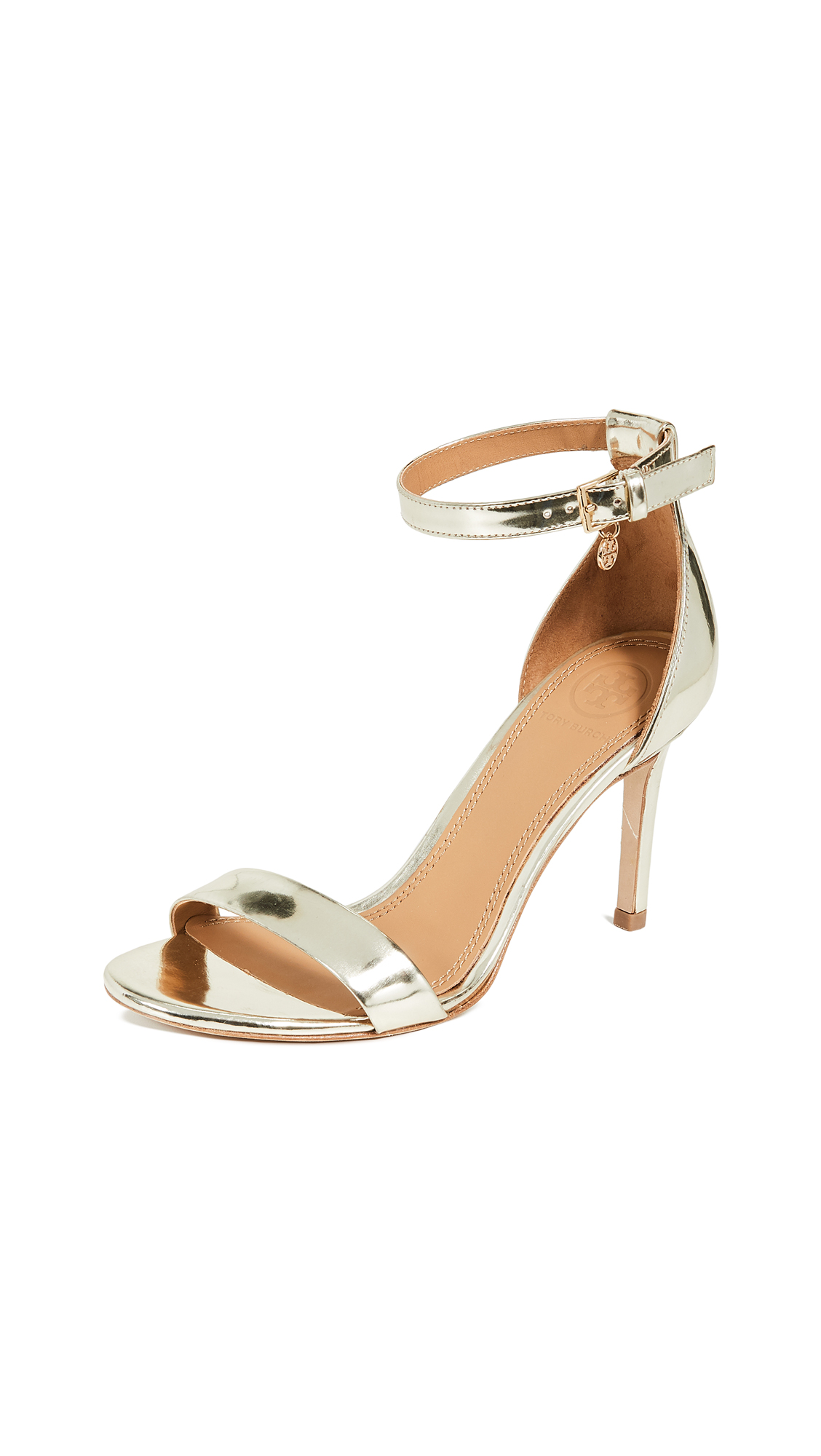 Tory Burch Ellie Ankle Strap Sandals - Spark Gold