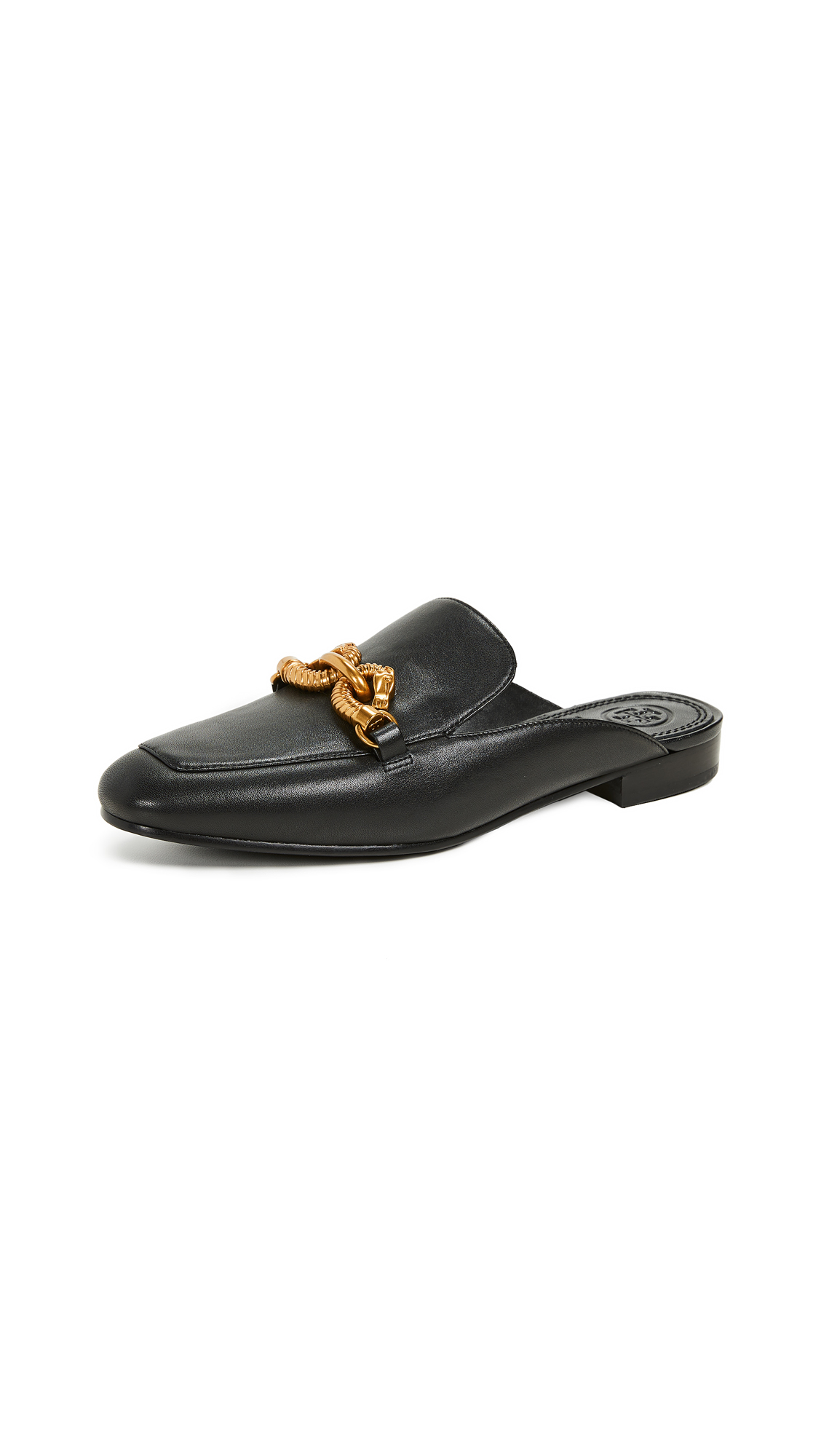 Tory Burch Jessa Backless Loafers - Perfect Black