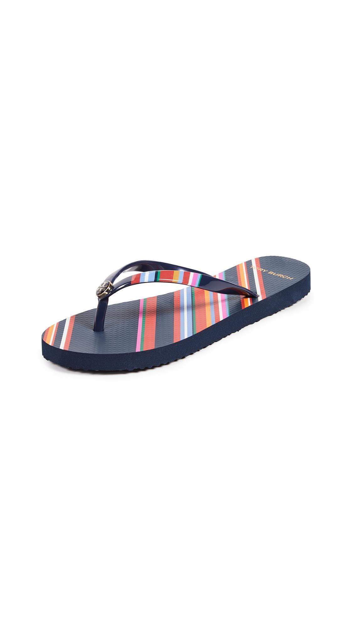 Tory Burch Printed Thin Flip Flops - Vivid Stripe