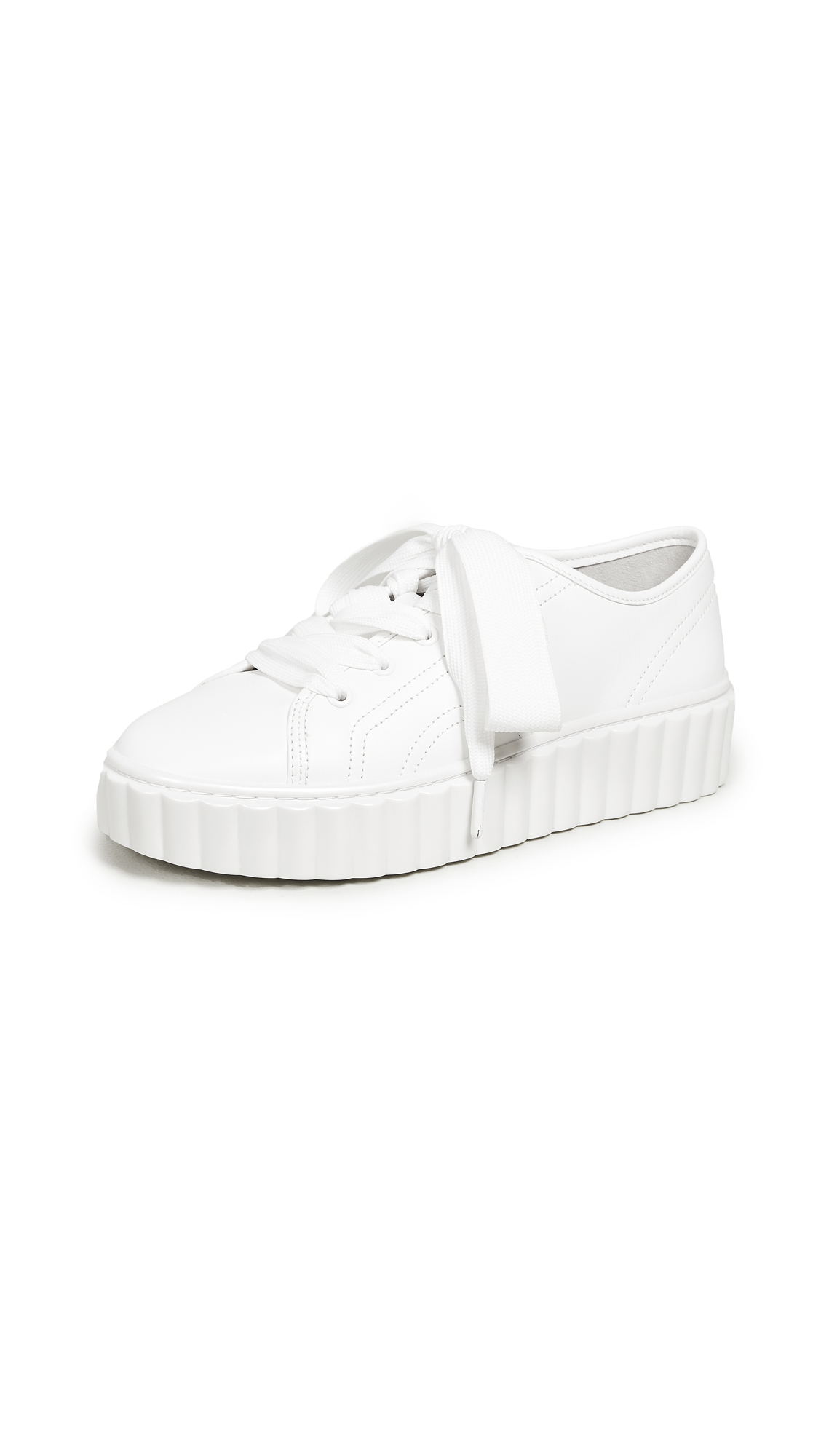 Tory Burch Scallop Sneakers - Snow White