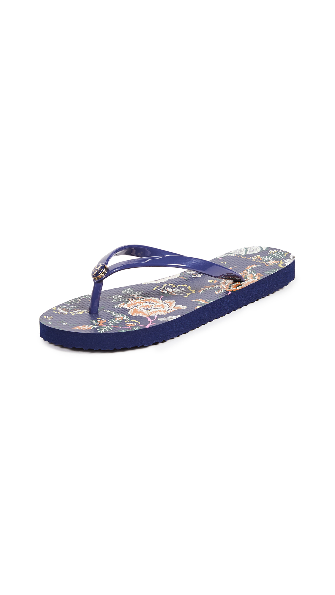 Tory Burch Thin Flip Flops - Montauk Navy/Happy Times