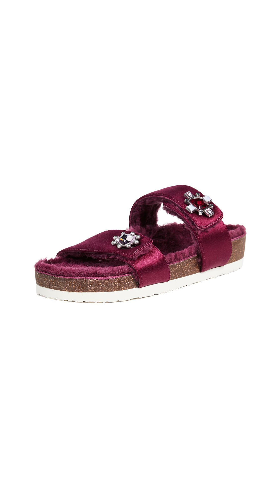 Tory Burch Celia Two Band Sandals - Imperial Garnet