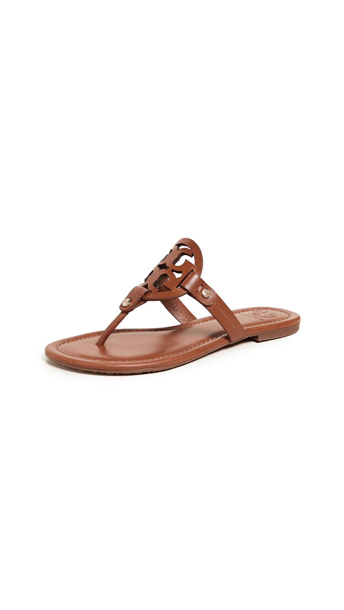 Tory Burch Miller Flip Flops - Tan