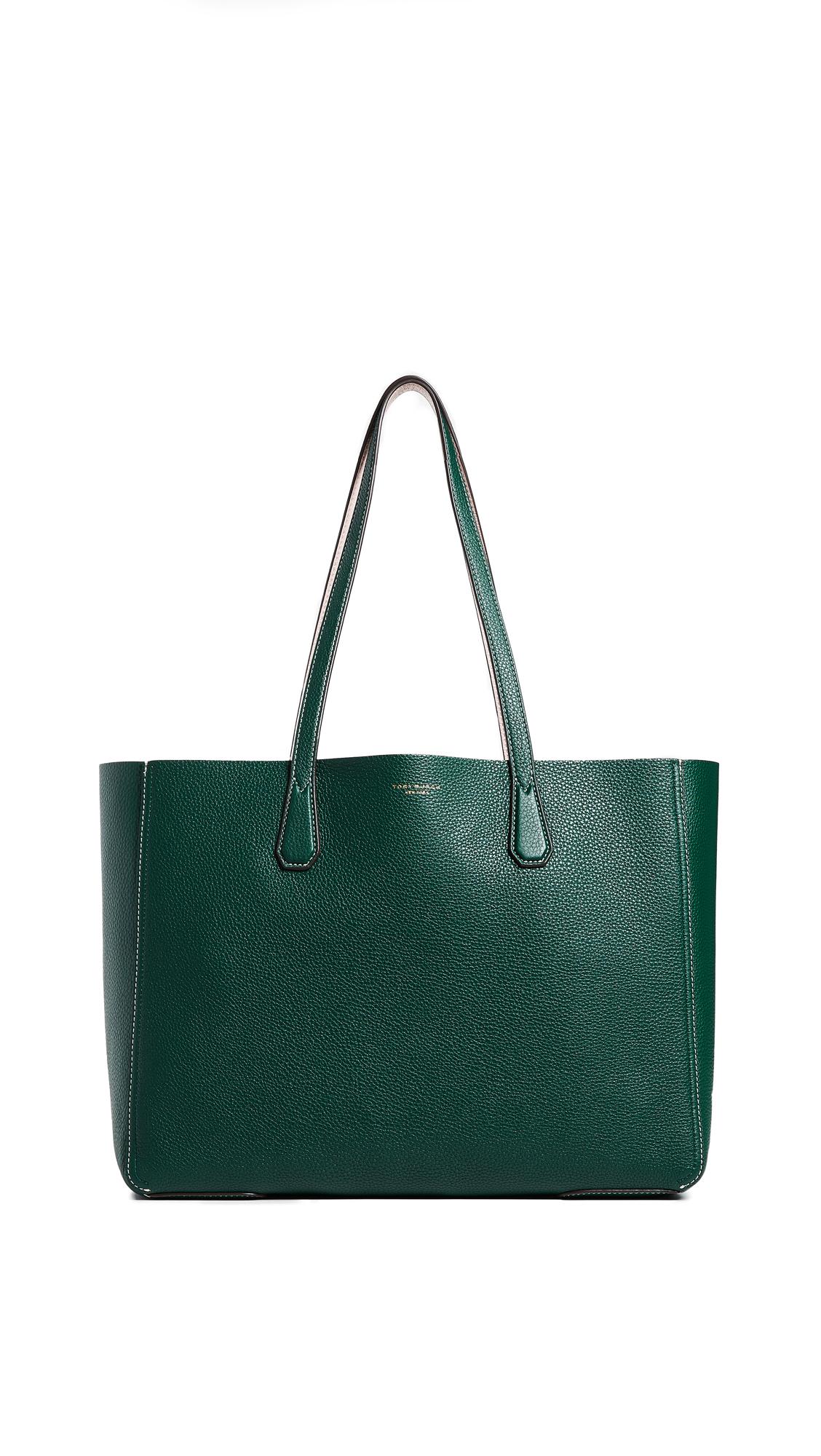 Phoebe Pebbled Leather Mini Tote Bag, Norwood/Shell Pink