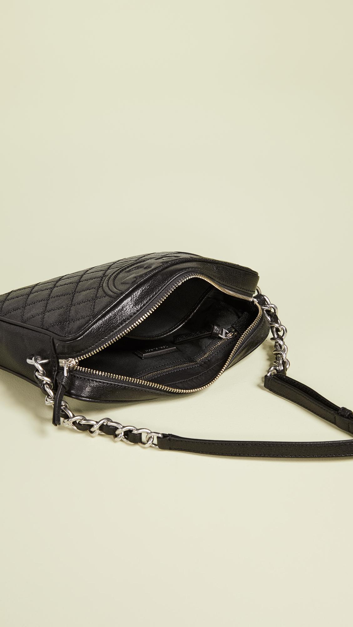 7db49b99610c Tory Burch Fleming Distressed Leather Camera Bag
