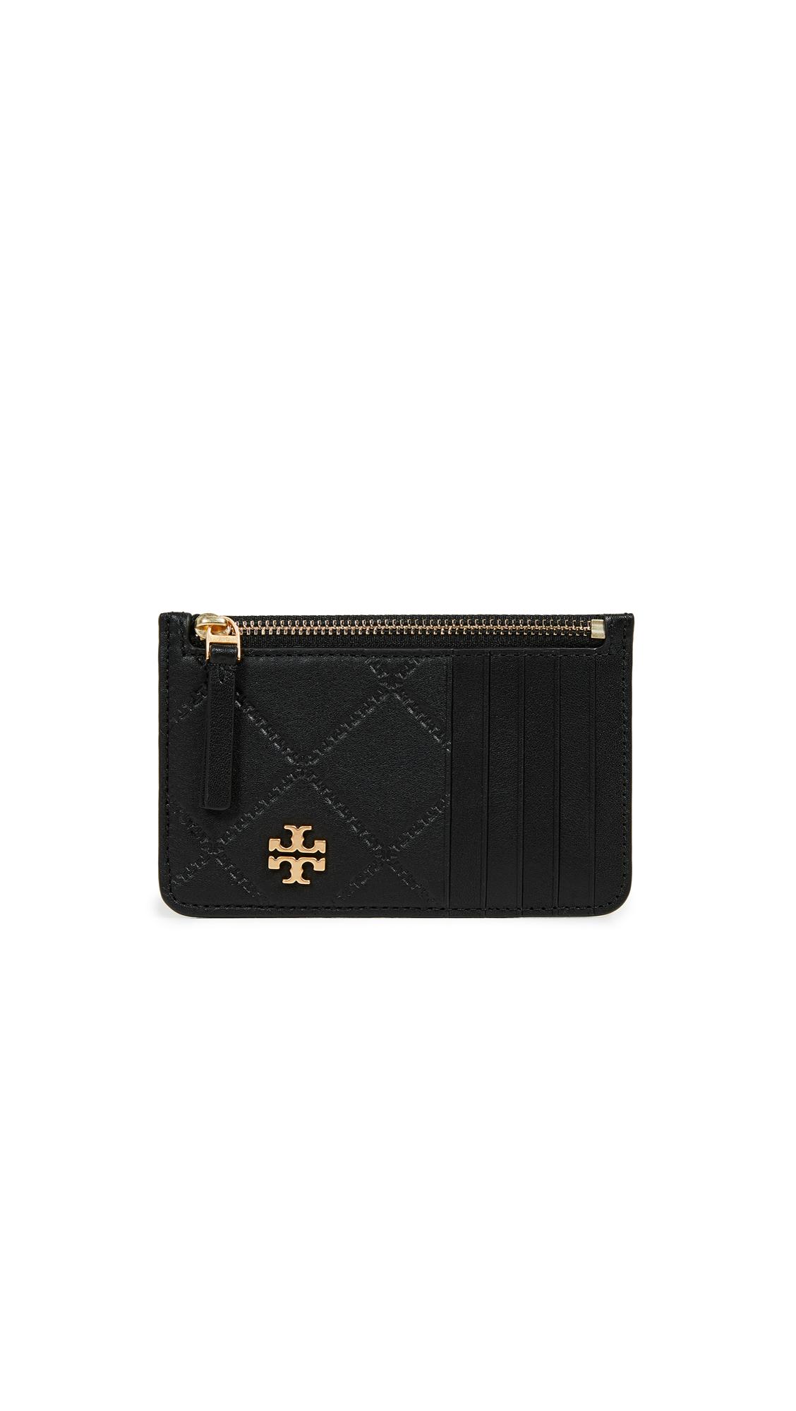 Georgia Zip Card Case, Black