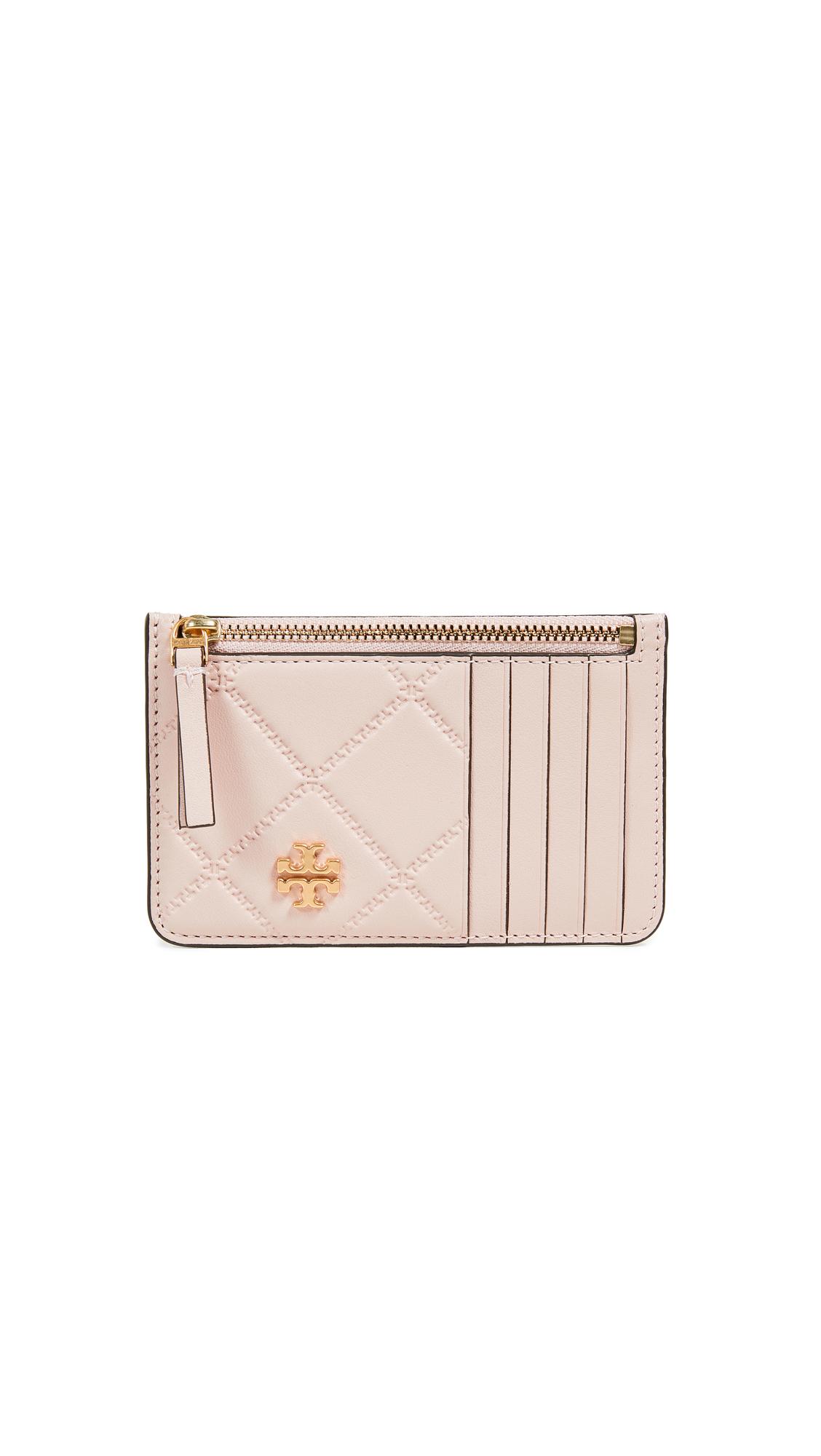 Georgia Zip Card Case, Shell Pink
