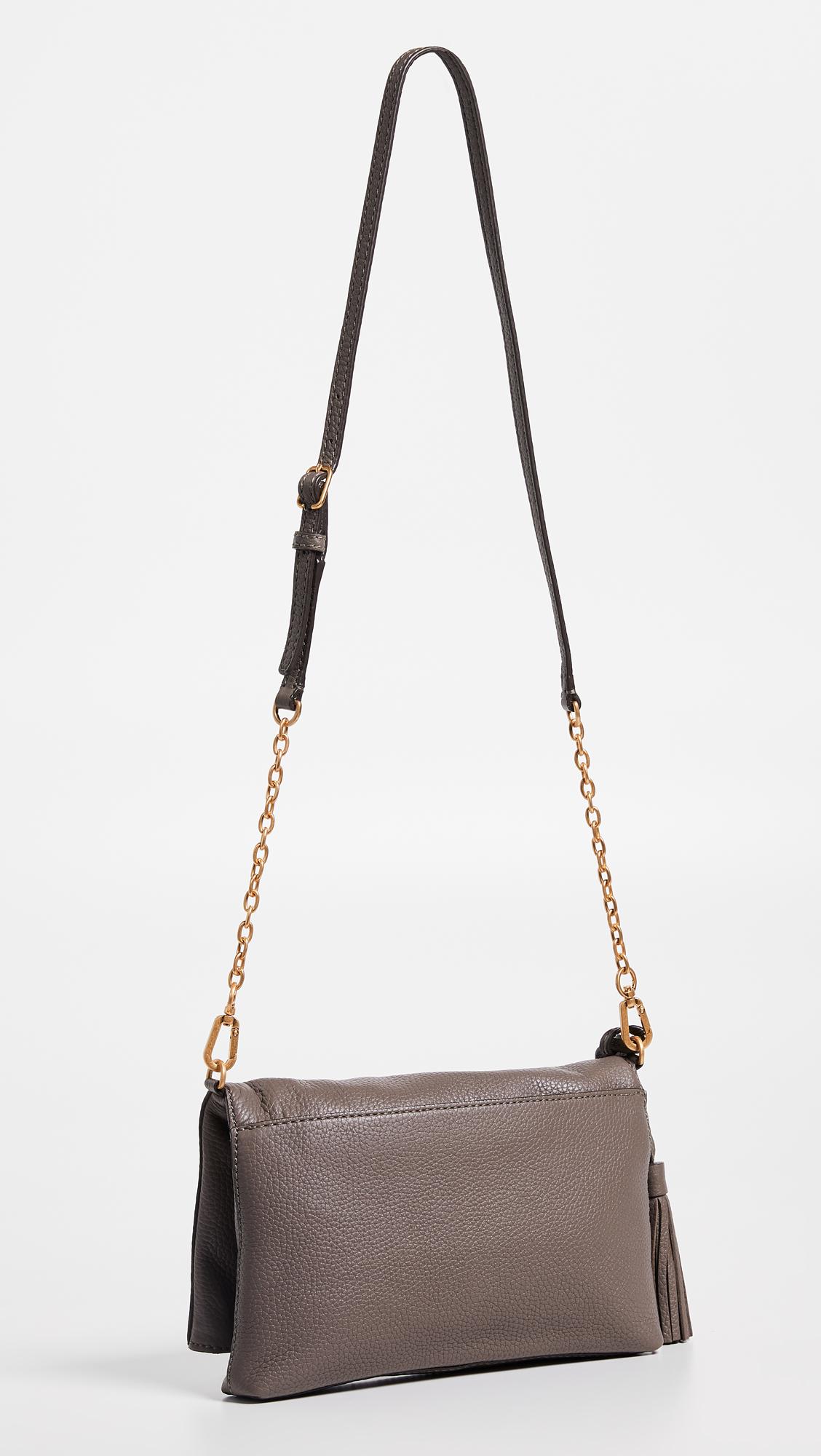 4c0e93b032be Tory Burch Mcgraw Chain Fold-Over Crossbody Bag