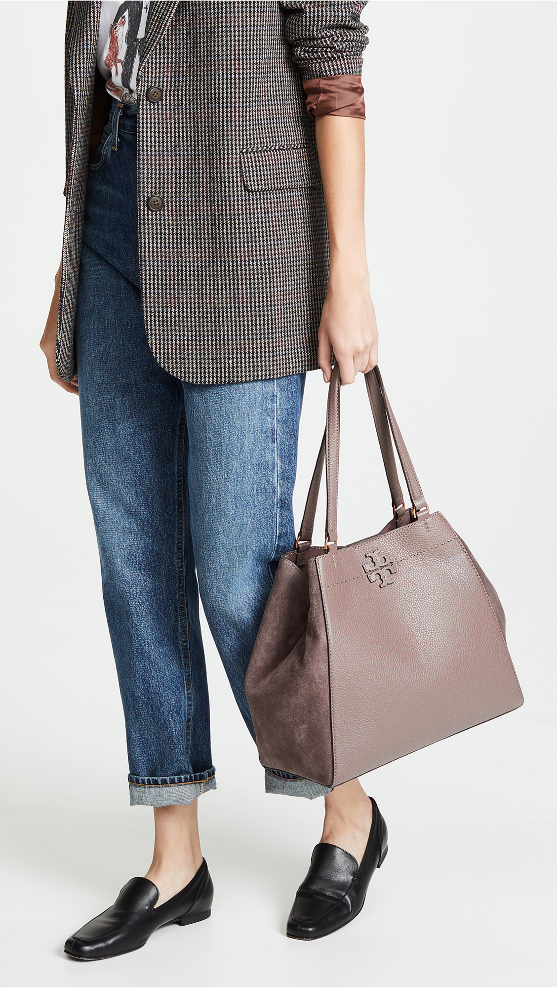 80395c904044 Tory Burch Mcgraw Mixed Media Carryall