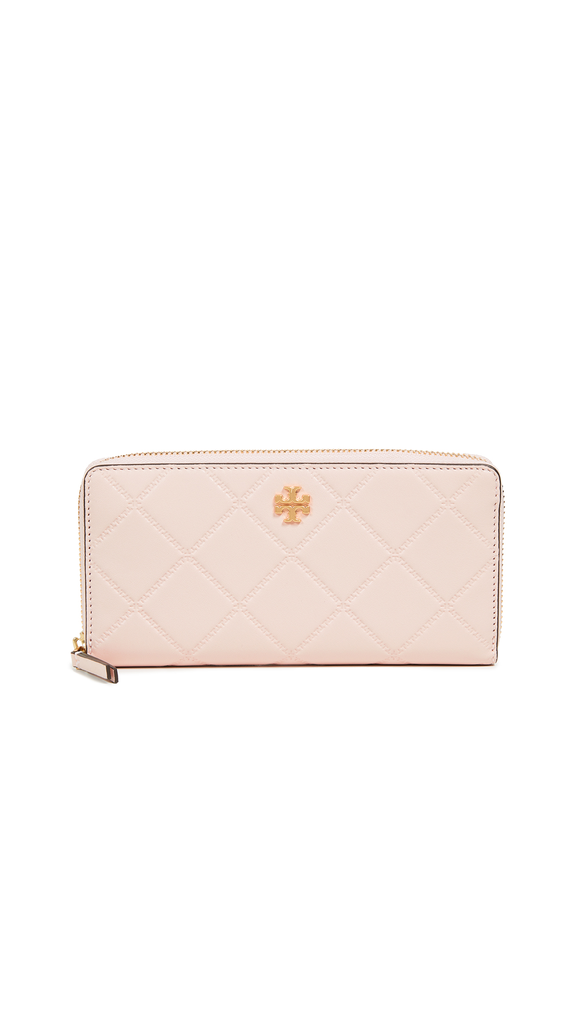 Georgia Zip Continental Wallet, Shell Pink