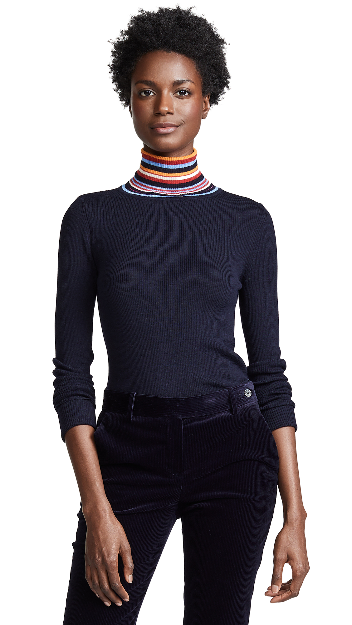 Tory Burch Alana Sweater In Tory Navy