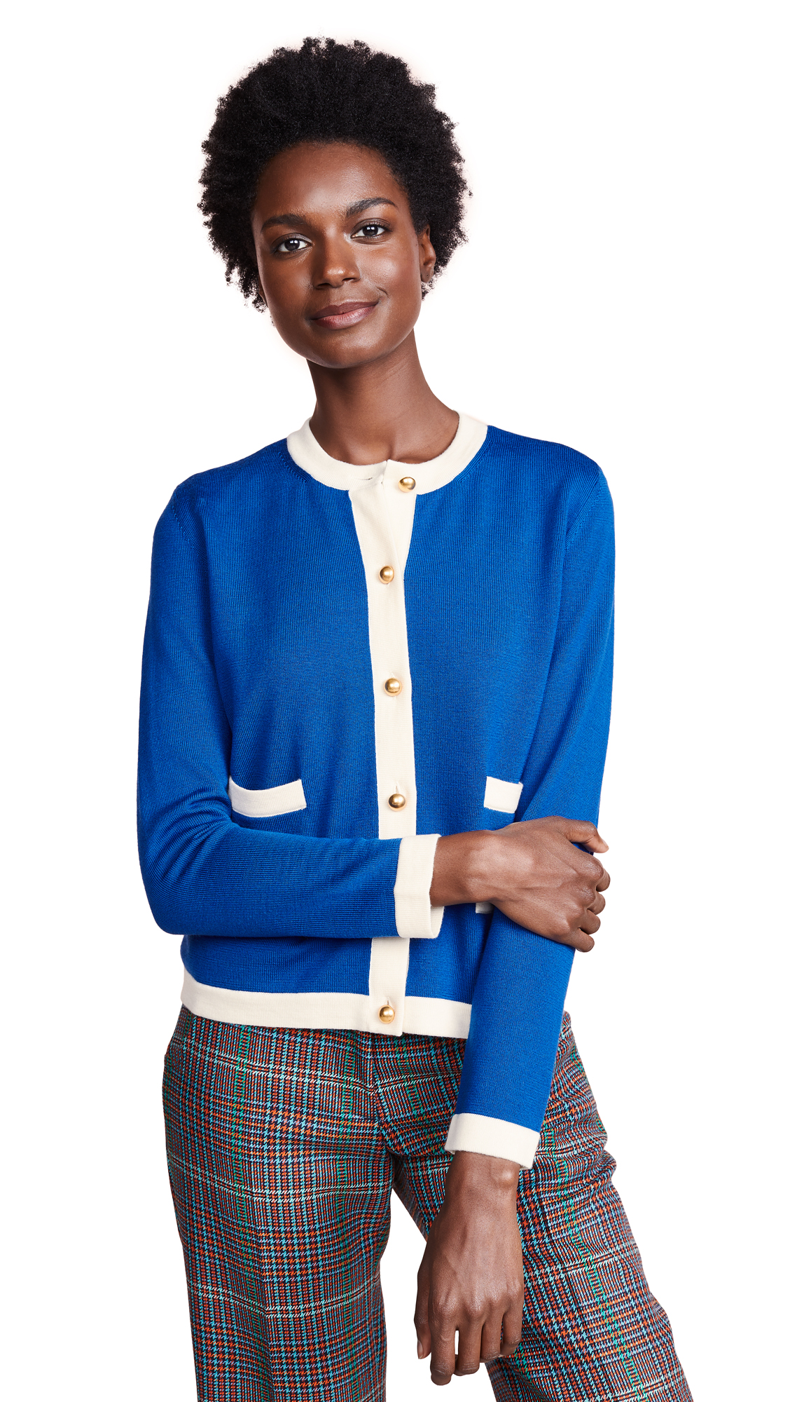 Tory Burch Kendra Cardigan In Indian Ocean