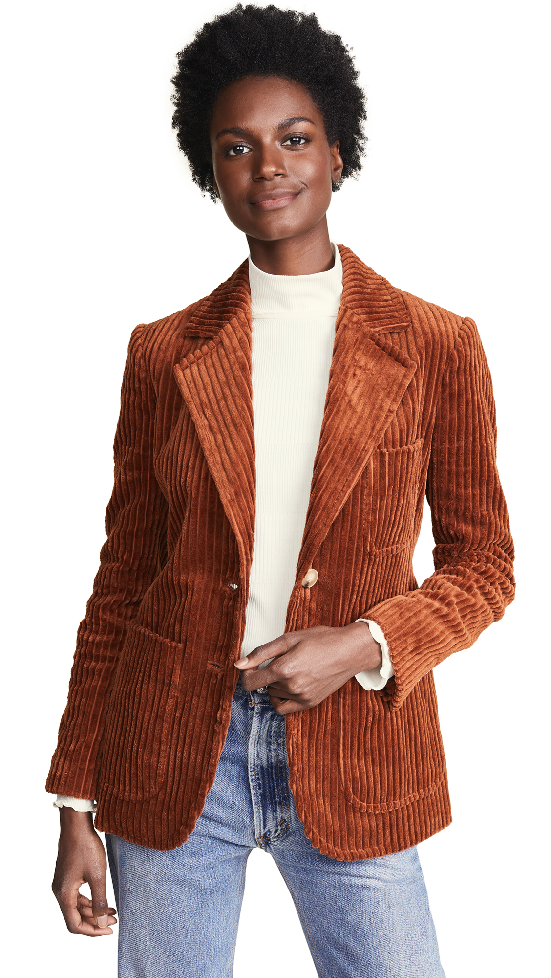 Tory Burch Polly Blazer - Autumn Rust/Autumn Rust