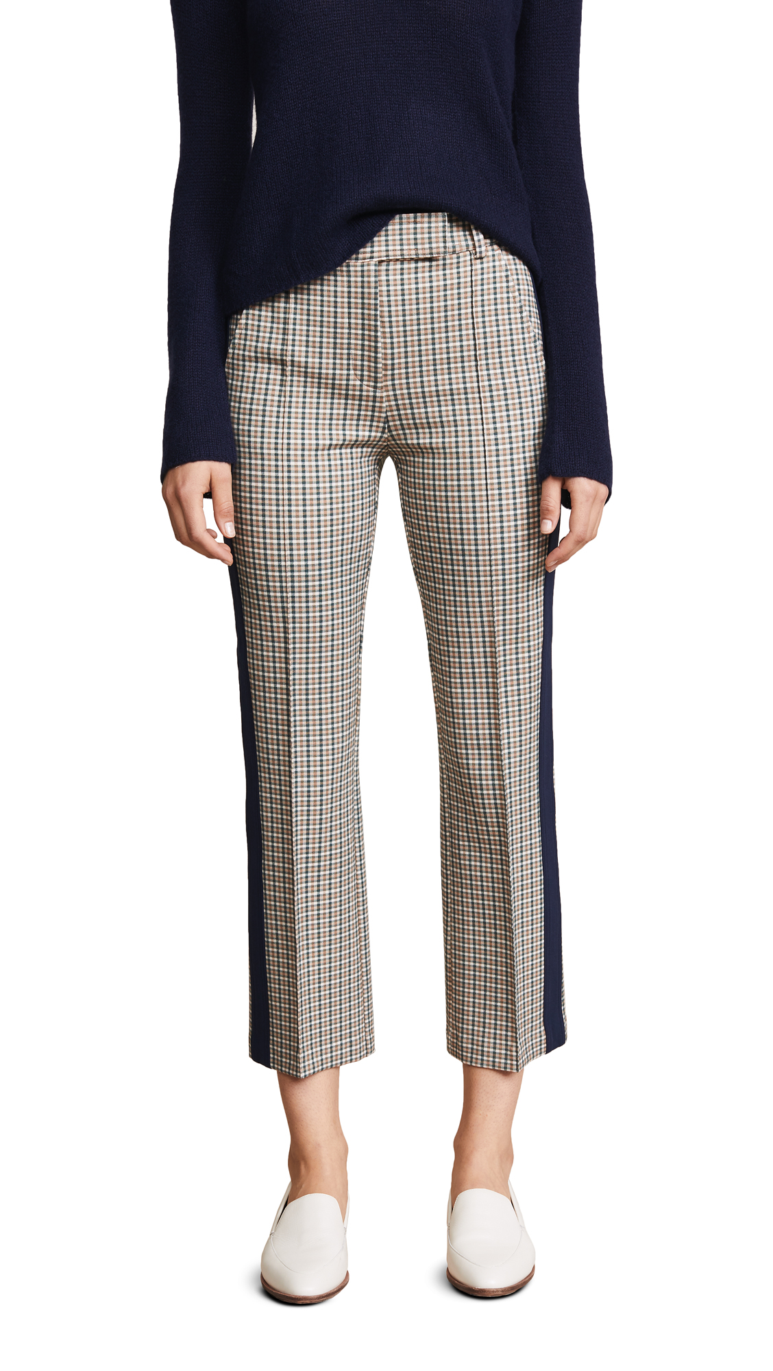 Tory Burch Tinsley Pants In Green Glenn Plaid