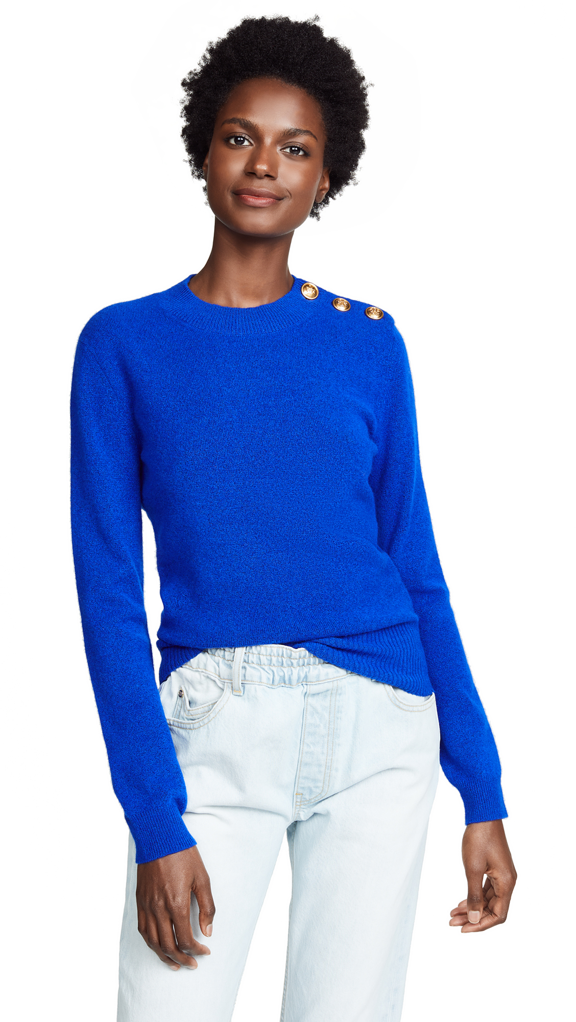 Tory Burch Sylvia Sweater In Majestic Blue