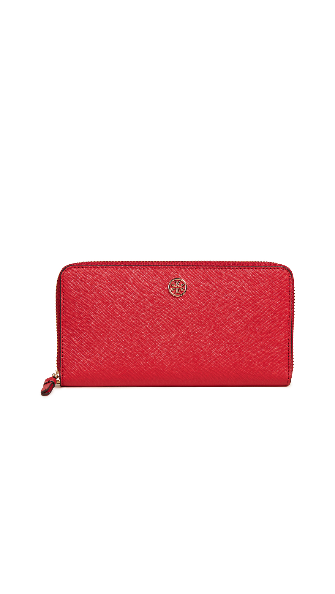 Robinson Zip Continental Wallet, Brilliant Red