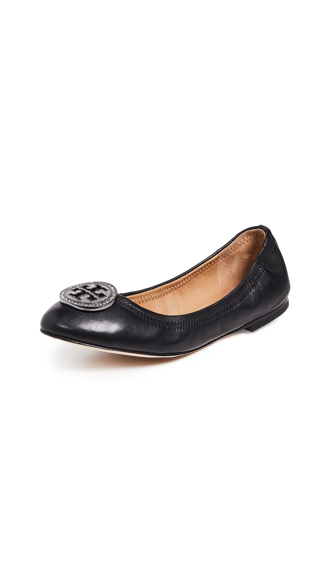 Tory Burch Liana Ballet Flats - Perfect Black/Gunmetal