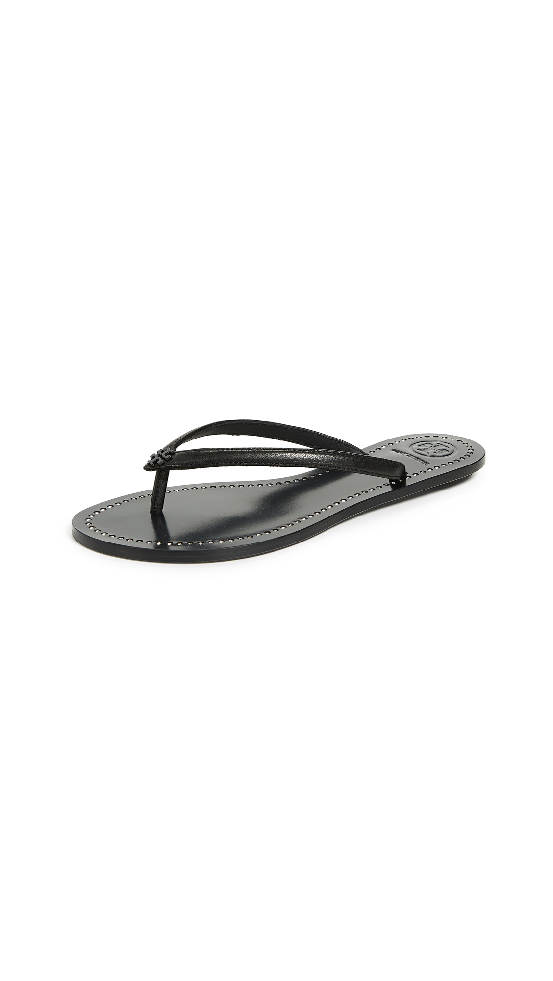 Tory Burch Liana Thong Sandals - Perfect Black