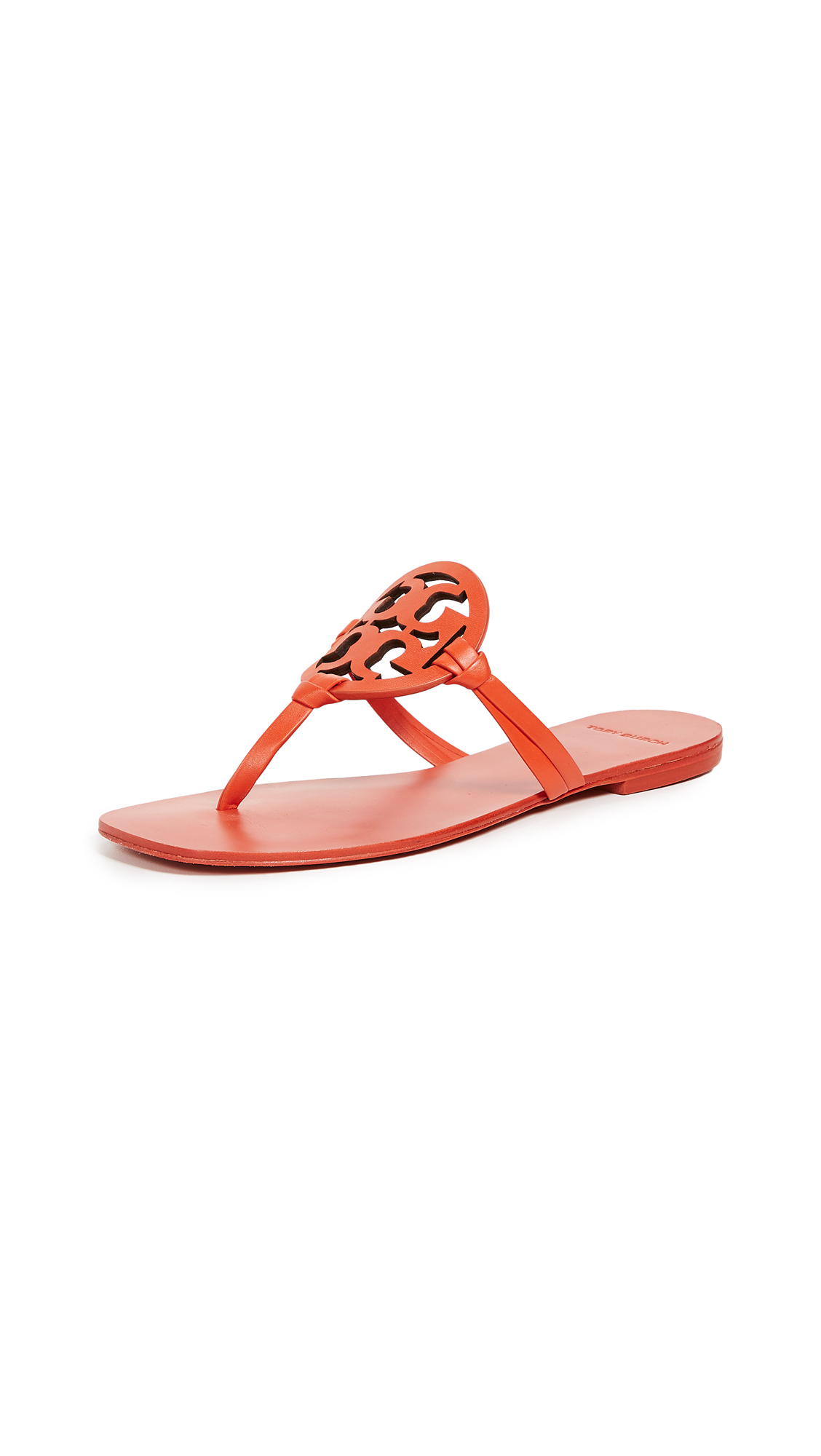 Tory Burch Square Toe Miller Flip Flops - Sweet Tangerine