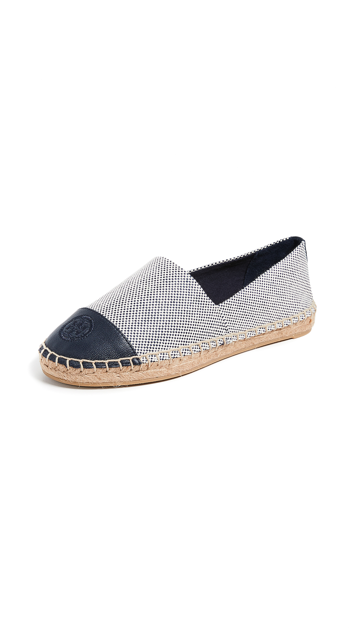 Colorblock Flat Canvas Espadrilles in Perfect Navy