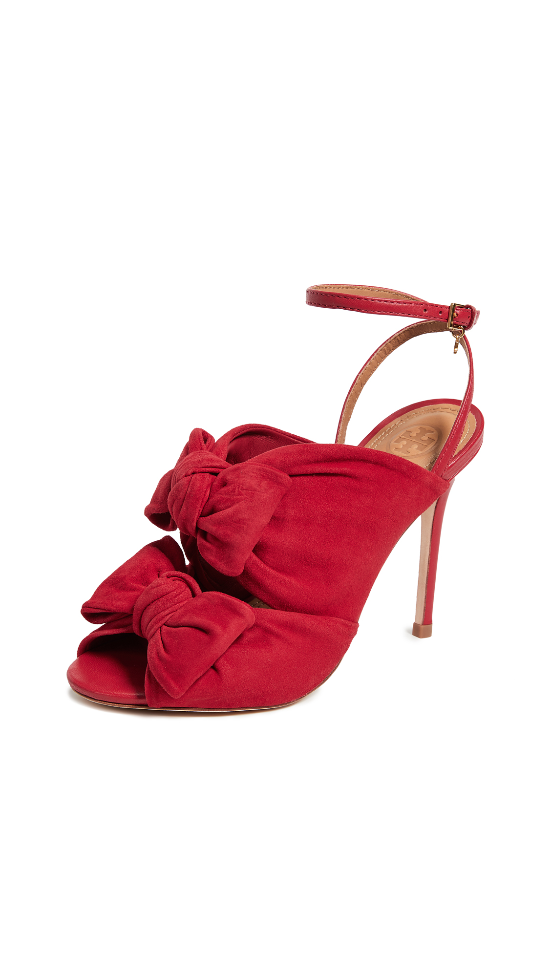 Tory Burch Eleanor 105mm Sandals - Brilliant Red