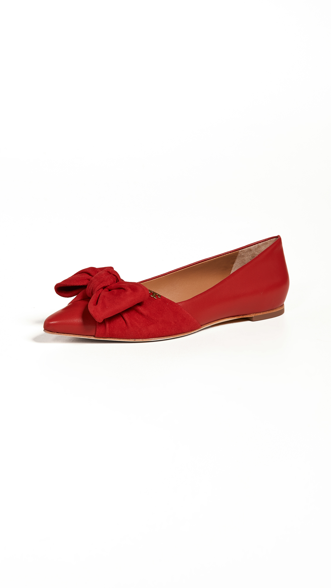 Tory Burch Eleanor Flats - Brilliant Red