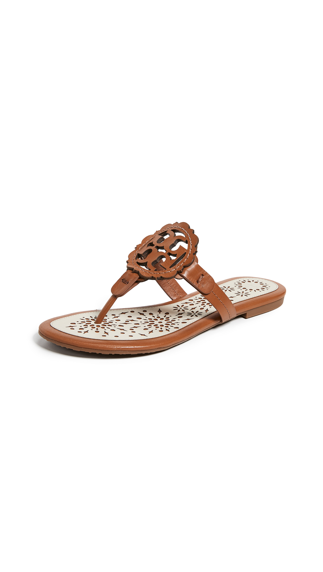 Tory Burch Miller Scallop Sandals - Tan/New Cream