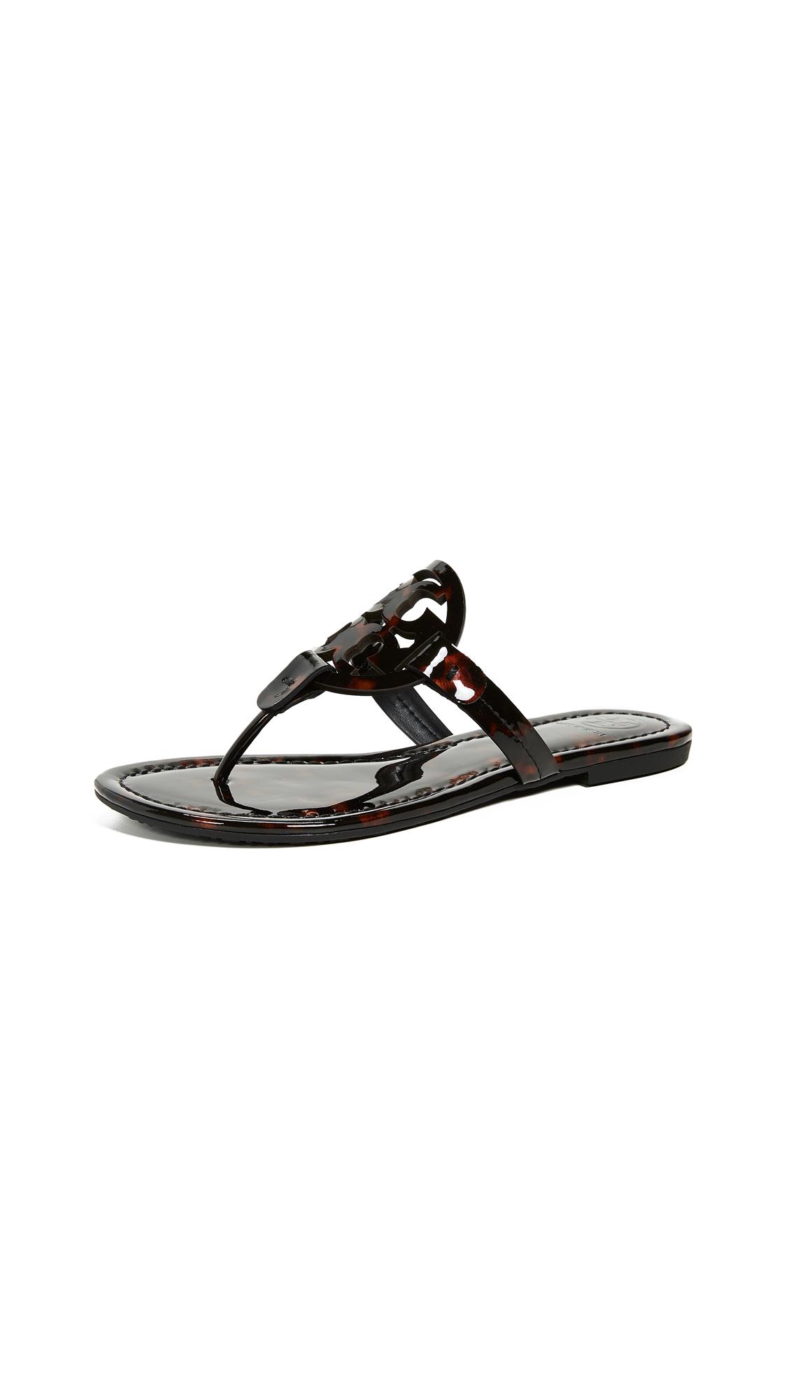 Tory Burch Miller Thong Sandals - Tortoise