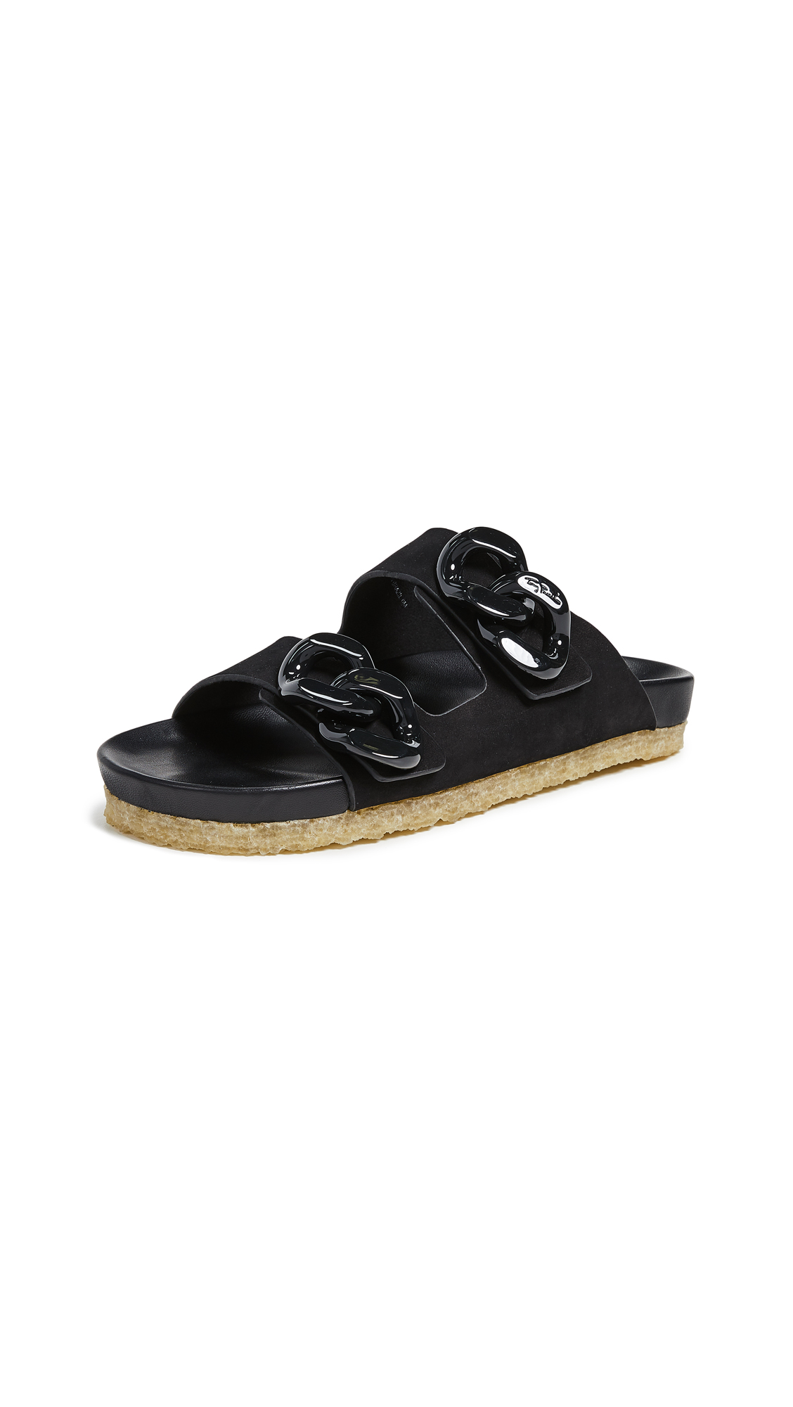 Tory Burch Adrien Two Band Slides - Perfect Black/Perfect Black