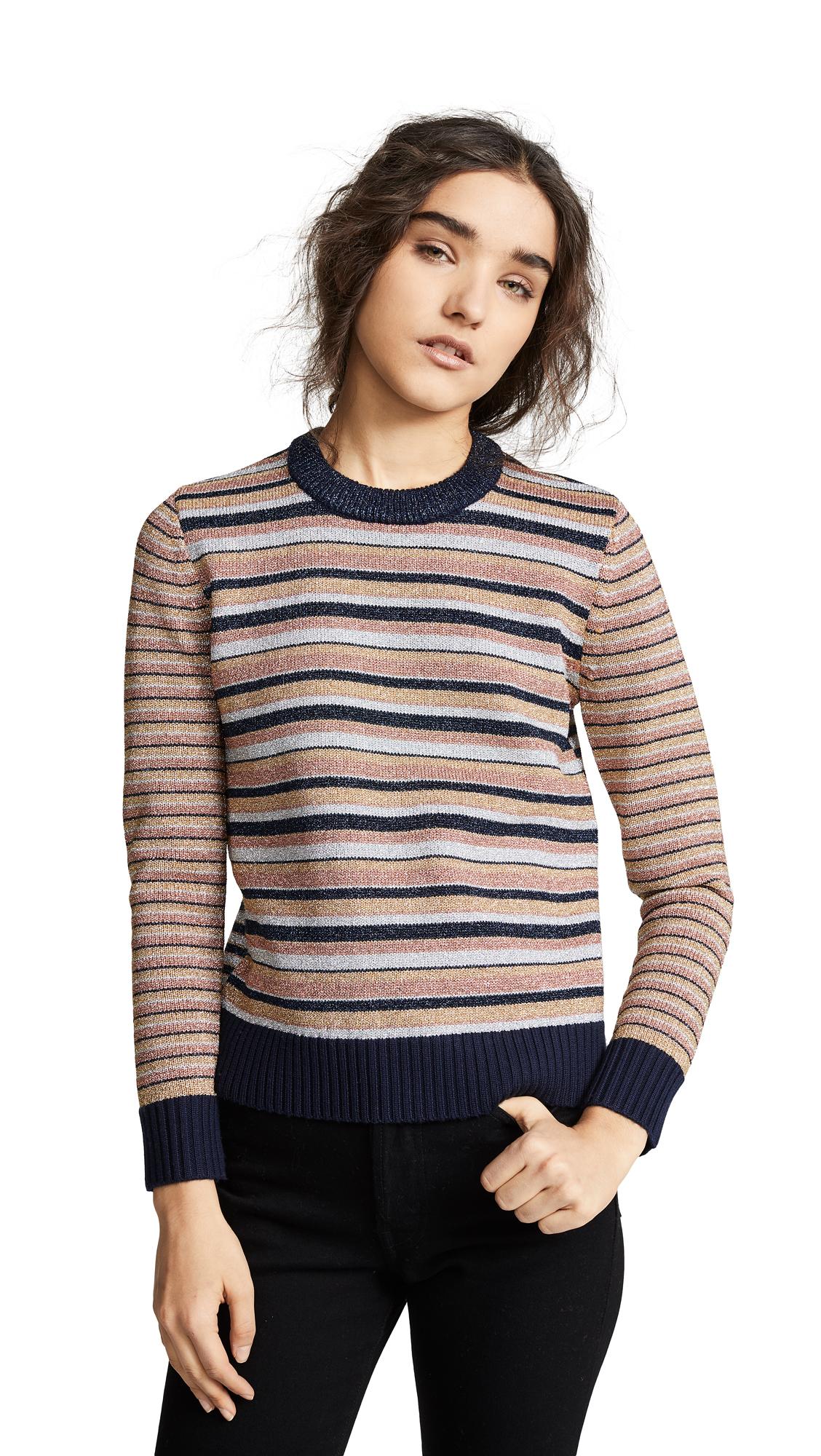 Tory Burch Metallic Stripe Sweater - Lurex Stripe