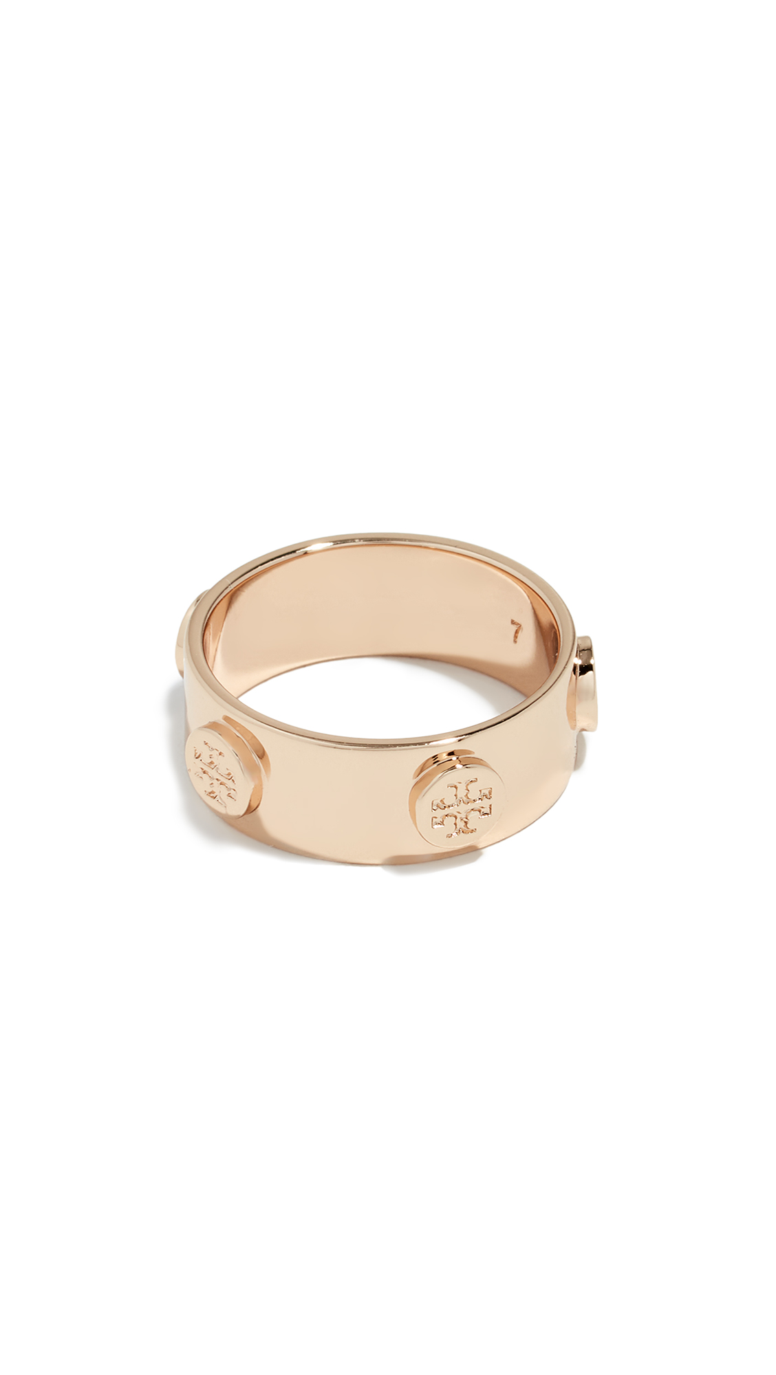 Key Items Delicate Logo Ring in Yellow Gold