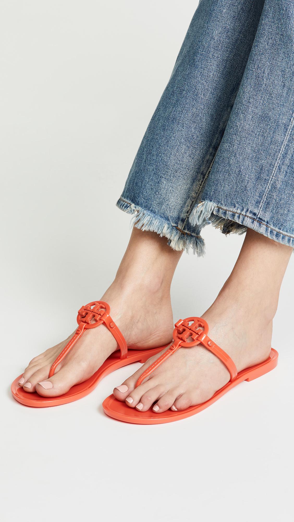 4148e8d01bcae Tory Burch Mini Miller Flat Thong Sandals