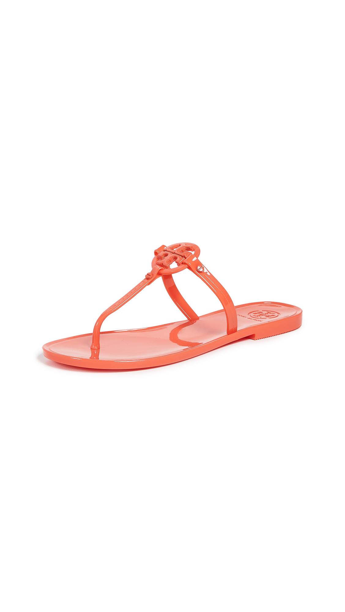 4cf3cbb04 Tory Burch Mini Miller Flat Thong Sandals In Poppy Coral