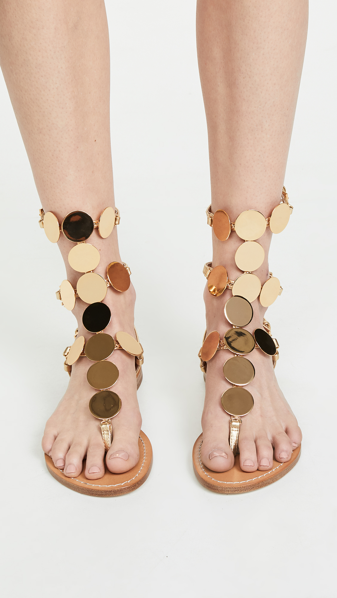 0d48ea46129 Tory Burch Patos Disk Gladiator Sandals