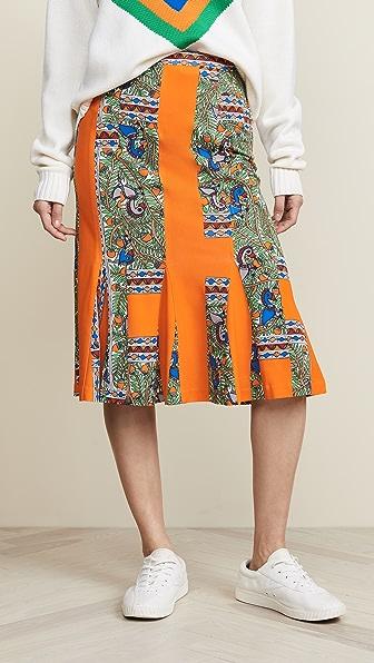 365df3dcd9 Tory Burch Printed Jersey Skirt In Something Wild Stripe | ModeSens