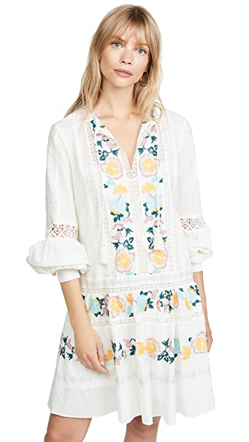 Photo of  Tory Burch Richa Swiss Dot Cotton Dress - shop Tory Burch dresses online sales