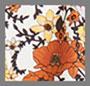 цвет слоновой кости в мелкий цветочек