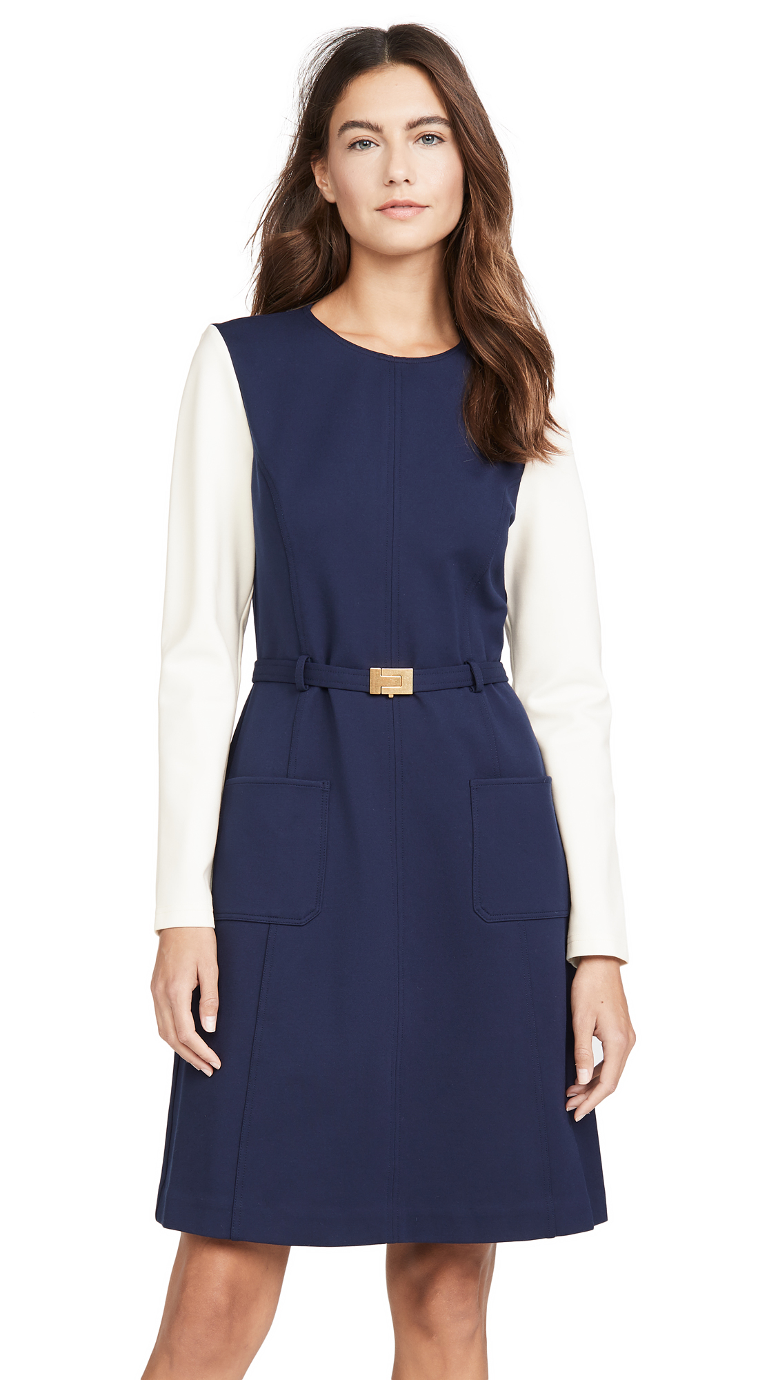 Buy Tory Burch online - photo of Tory Burch Colorblock Ponte Dress