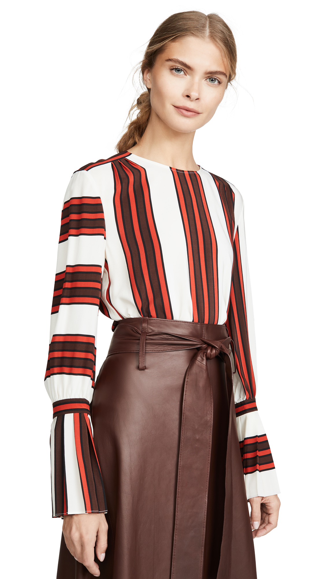 Buy Tory Burch online - photo of Tory Burch Printed Flare Sleeve Blouse