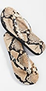 Tory Burch Printed Leather Flip Flops