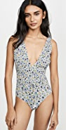 Tory Burch Printed Smocked One Piece