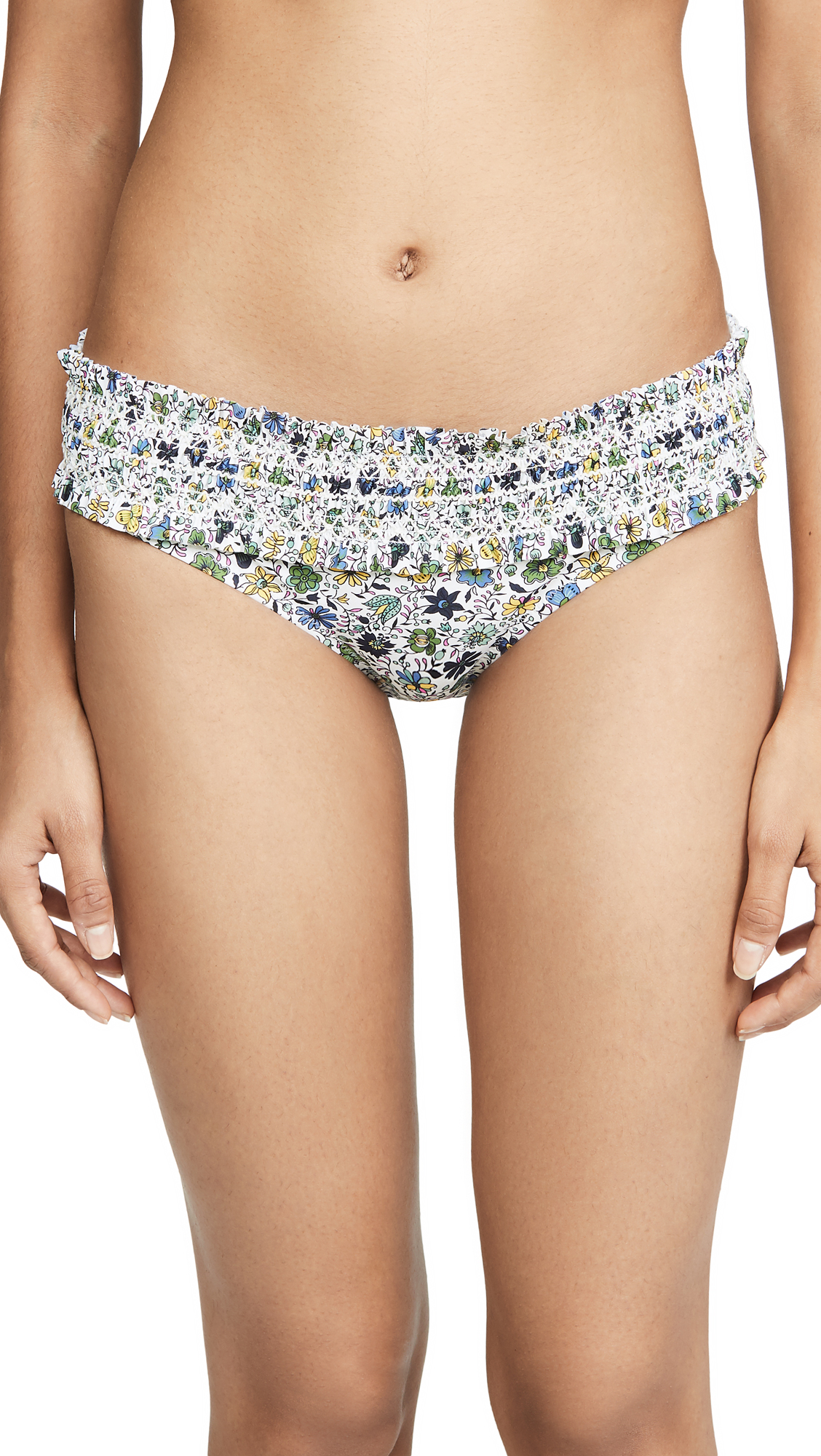 Buy Tory Burch online - photo of Tory Burch Costa Printed Hipster Bikini Bottoms