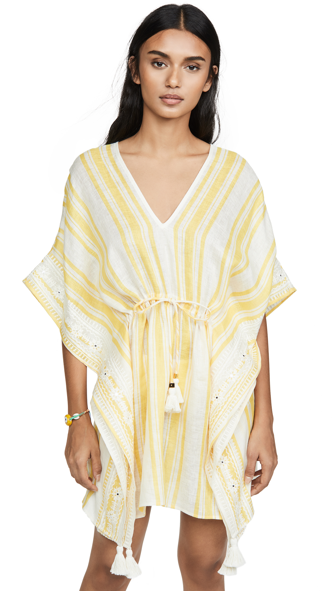 Buy Tory Burch online - photo of Tory Burch Awning Stripe Beach Caftan