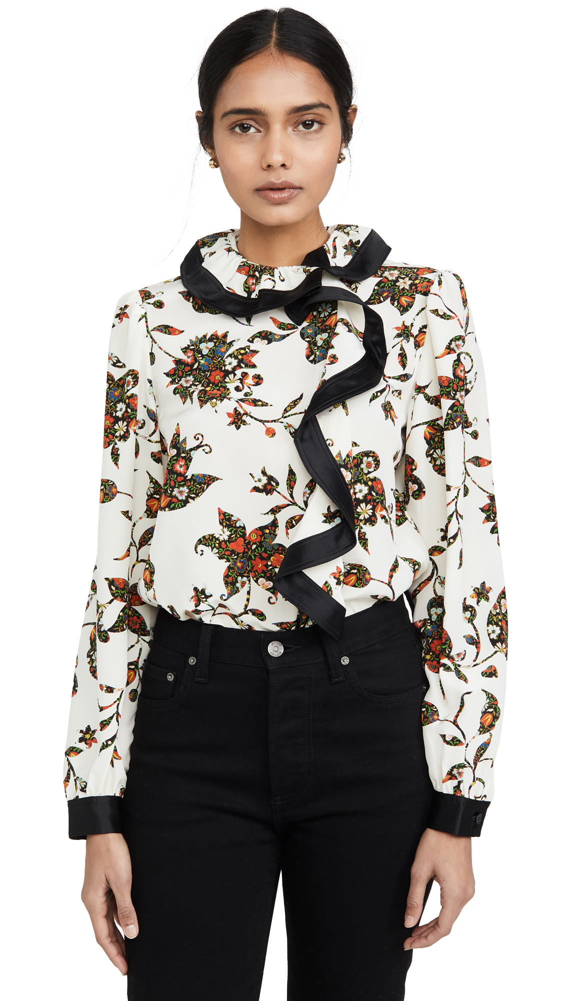 Tory Burch Ruffle Wrap Blouse - 30% Off Sale