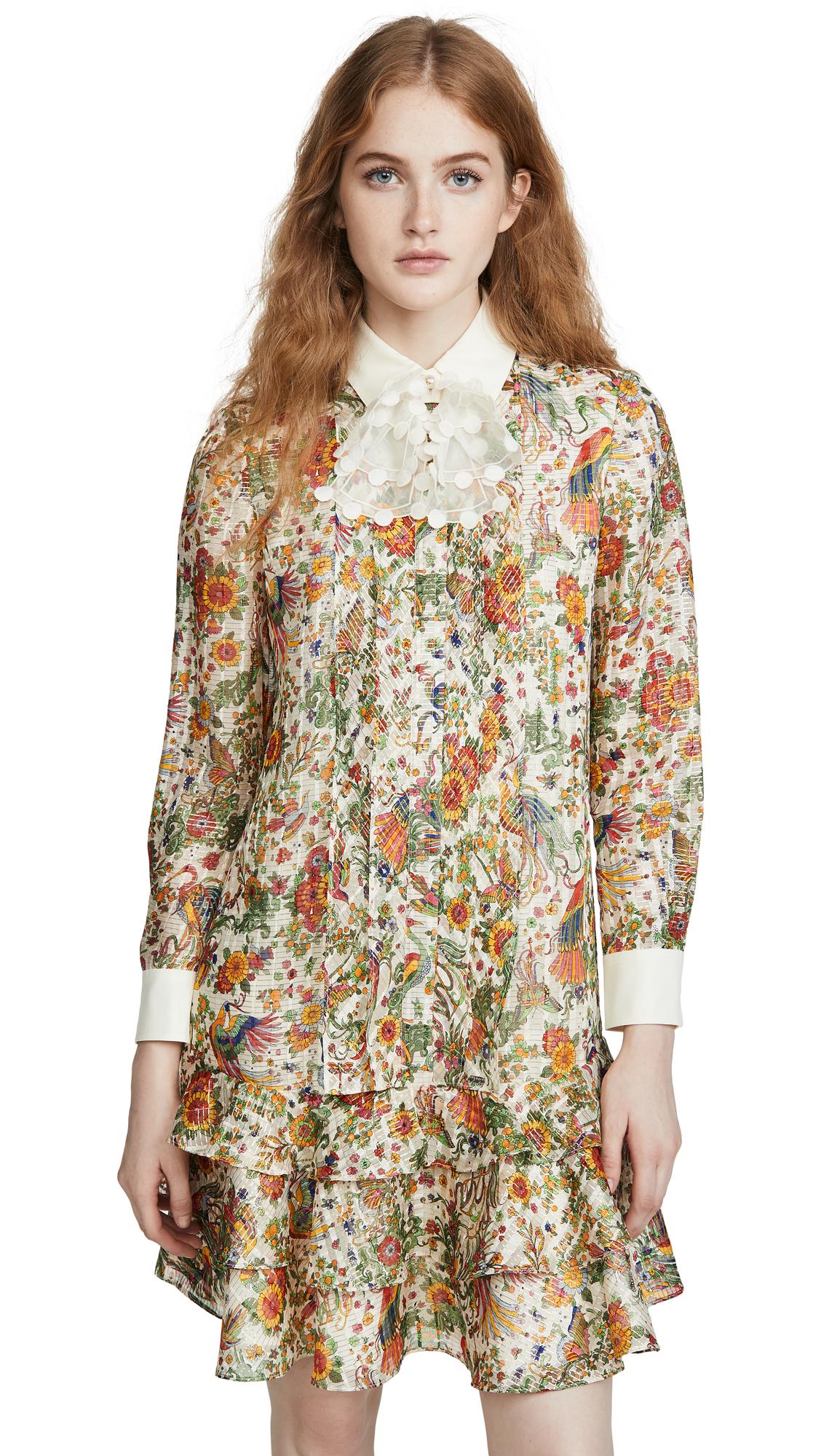 Buy Tory Burch online - photo of Tory Burch Printed Metallic Dress