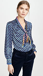Tory Burch Printed Bow Blouse