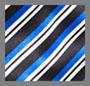 Blue Bias Stripe