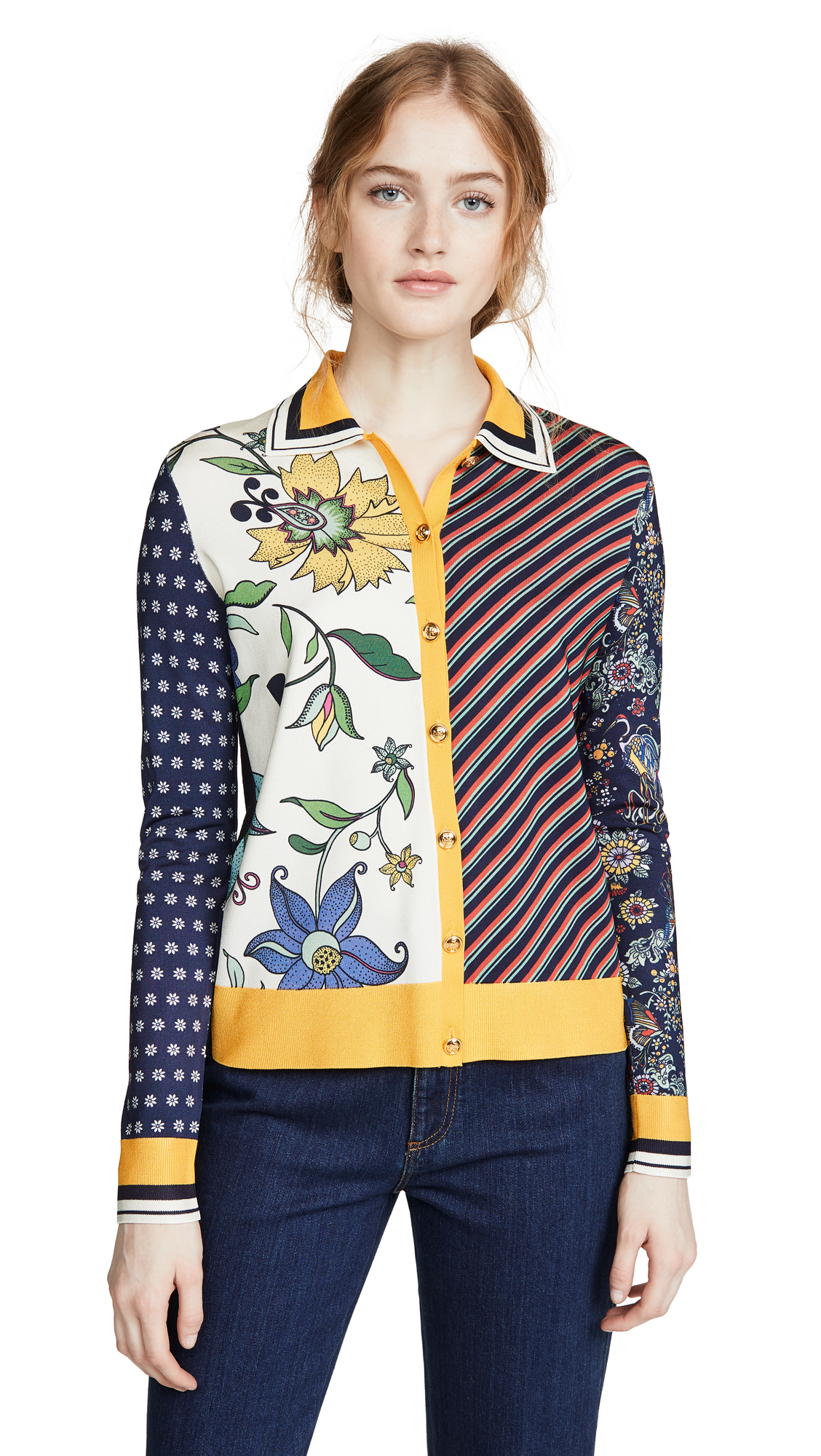 Buy Tory Burch online - photo of Tory Burch Collared Button Down Sweater